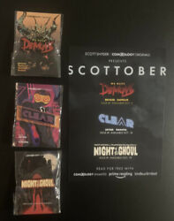 Nycc Scott Snyder Demons Clear Night Of Ghoul Comixology Pin Set And Card Promo