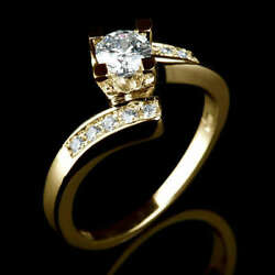 0.8 Carat Vs Real Diamond Engagement Ring W Accents Size 5.5 6 6.25 6.5