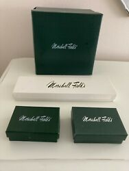 Vintage Marshall Fields Gift Box Jewelry Boxes Set Of 4. Plastic Bags Set Of 9