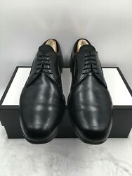 Prada Men#x27;s Black Leather Oxford Dress Shoes Lace up Size 14 2E Made in Italy $125.00