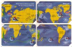 1994 Whitbread Round The World Yacht Race Puzzle Set Of 4 Mint Phone Card