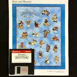 Bears And Bunnies Embroidery Designs Disk For Husqvarna Viking Designer 1 Machine