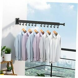 Clothes Drying Rack,wall Mounted,retractable ,collapsible,with Towel Bar,no