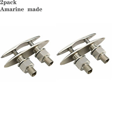 2pcs Boat Flush Mount Pull Up Cleat 6-1/2and039and039 316 Stainless Steel-amarine-made Esa
