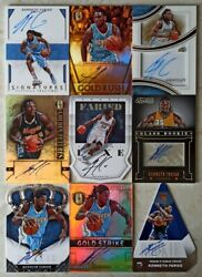 Kenneth Faried Huge Auto And Jersey Collection 35 Panini Card Lot Includes Rookie