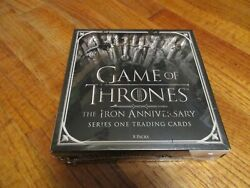 2021 Game Of Thrones The Iron Anniversary Series 1 Factory Sealed Hobby Box And P1