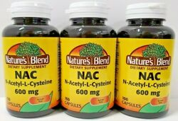 Nac 600 Mg N-acetyl-l-cysteine Supplement 100ct Capsules - 3 Pack -exp 08-2024