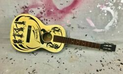 Vintage Guitar Rare 1940s Wards Swing Stenciled Acoustic Parlor