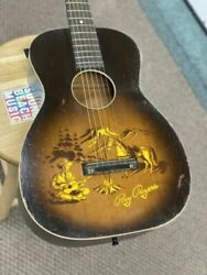 Vintage Guitar Rare 1950 Harmony H608 Roy Rogers Stenciled Acoustic