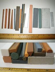 Norton India And Others Machinist Stone Lot Sixteen Shapes Toolmaker Gunsmith