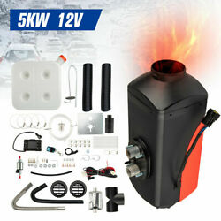 Hot Diesel Air Heater 12v 5kw 15l Tank Remote Control Thermostat For Truck Boat