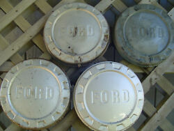 1961-66 Ford 150 Pickup Truck Dog Dish Center Caps Hubcaps Wheel Covers Fomoco