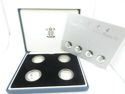 2004 Silver Proof Set Queens Beasts Royal Mint Case And Book Only 5000 Issued