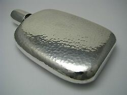 Chinese Export Sterling Silver Flask Cap-cup Hammered Hip Asia Cnina C1900s Rare