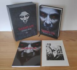 Stephen King Signed - And039salemand039s Lot - Deluxe Lettered 1/26 Edition C/w Artwork