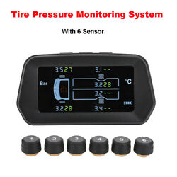 Solar Tire Pressure Monitoring System Real-time Usb 12.0bar Alarm With 6 Sensors