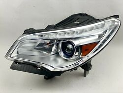 2013-2017 Buick Enclave Left Lh Side Xenon Hid Non-afs Complete Headlight Oem