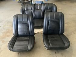 Gm Bucket Seats 1966 -1972 Reupholstered Front And Rear