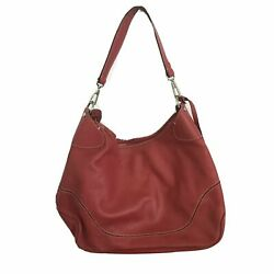 DOONEY AND BOURKE Red Pebbled Leather Handbag made in italy $8.50