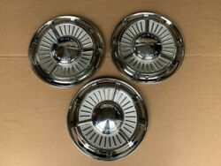 3 Nos 13 Inch 1964 Chevy Ll And Nova Hubcaps