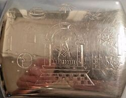 Rare 1915 Masonic Solid Silver Case A Top Quality Piece Of Silver