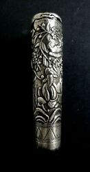 Ancienne Canne Indochine Argent Andeacutebandeacutene Chinois Old Cane Chinese Silver Mark Xix