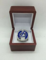 2020 Tampa Bay Lightning Ring And Wooden Display Box Nhl Stanley Cup Championship