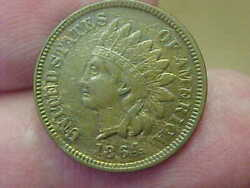 Scarce 1864 L Bronze Indian Head Cent Penny Full Rim Date Liberty Wreath Nutbrow