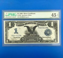 1899 1 Silver Certificate Large Currency Black Eagle Note Fr 236 Pmg 45 Epq