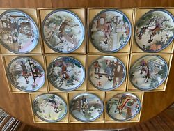 Antique Japanese Hand Painted Plates, In Pretty Good Condition.