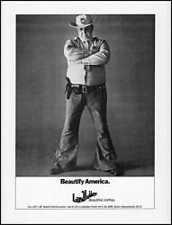1971 Landlubber Clothing Rural County Sheriff Jeans Retro Photo Print Ad Ads33