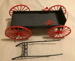 Vintage Marx Best Of The West Johnny West Buckboard Wagon For Thunderbolt W Whip