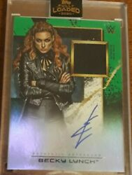 2020 Topps Fully Loaded Wwe Wrestling Green Becky Lynch Auto Patch /50