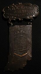 1911 Ioof Odd Fellows Official's Medal Badge - Indianapolis In Indiana