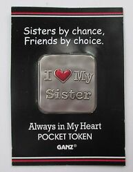 Ax Sisters By Chance Friends Choice Love Always In My Heart Pocket Token Charm
