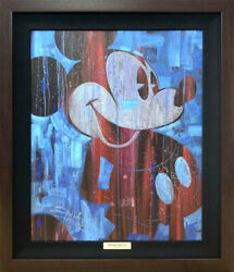 Disney Mickey Mouse/cool Blue Certificate Of Work With Hook For Exhibition