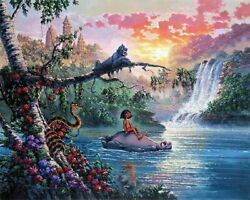 Disney Paintings Jungle Book/ Necessities Bear Limited To 195 Copies Canvas