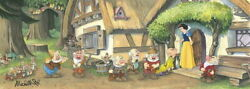 Disney Paintings Snow White And The Seven Dwarms/ Another Kiss To Dopey Limited