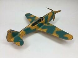 Vintage Hubley Rare Camouflage Toy Metal Airplane Fighter Plane