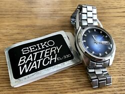 Rare Vintage Nos New Old Stock Seiko Elnix El330 Electronic Battery Watch And Tag