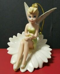 New Lenox Disney Peter Panand039s Tinker Bell Sitting On A Daisy Flower Ornament
