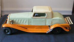 Vintage Girard Deluxe Coupe Pressed Steel Wind Up And Battery Original Paint Vg