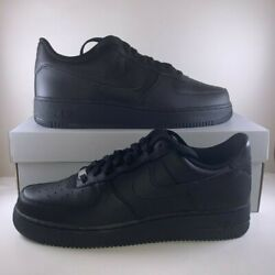 Nike Air Force 1 Low Triple Black 07 Mens Sizes 10 And 10.5 Cw2288-001