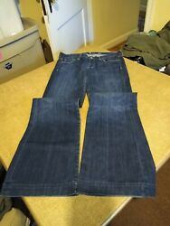 7 For All Mankind Dojo Blue Jeans Womenand039s Size 29