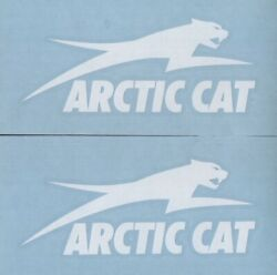 2x ARCTIC CAT 6quot; White Decals Stickers for Snowmobiles Windows Trucks...