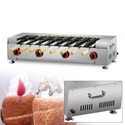 Lpg Gas Commercial Stainless Chimney Cake Oven Roll Grill Machine W/8x Roller