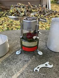 Rogers - Akron Ohio M-1950 Stove 1952 Case By Leyse 1962 Uses Coleman Fuel