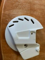 Nos Acerbis White Front Disc Cover Yamaha 1989 Yz125 Yz250 51-72