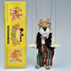 Vintage Pelham Puppet - Sl63 Scottie Dog - Tagged And Boxed