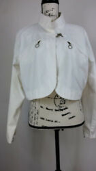 Mixit Women's Jacket White Size 1x Full Zip Long Sleeve Relaxed Fit Casual
